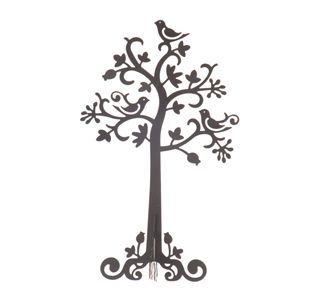 Small Black Metal Jewellery Tree.