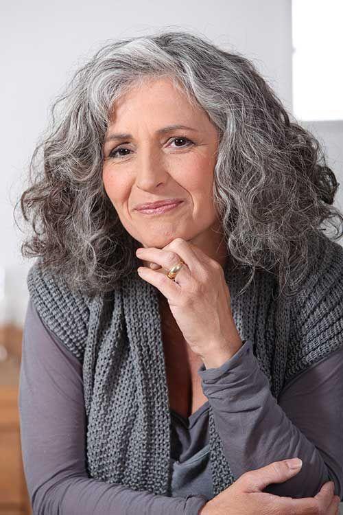 Long Hair Style for Older Women