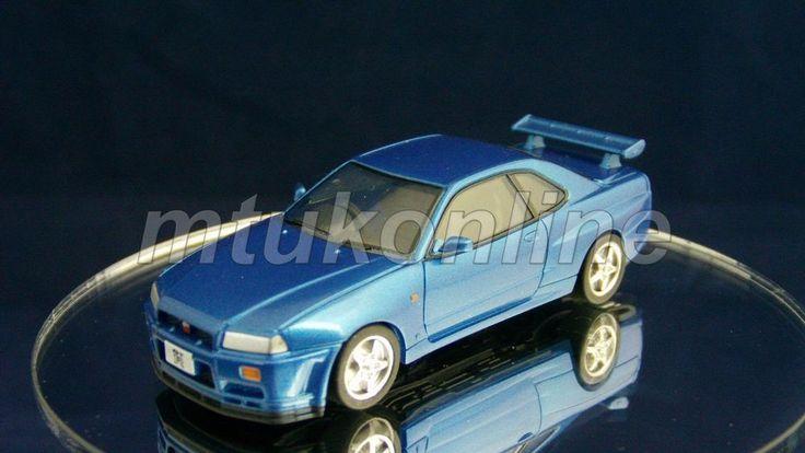 TAKARA SILHOUETTE 2 NISSAN SKYLINE GT-R 1998 | R34 | 1/64 | BLUE METALLIC
