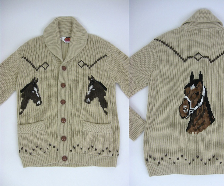 vintage knitted jacquard sweater / ornament horses ornament, knitted jacquard khaki, beige , black, violet