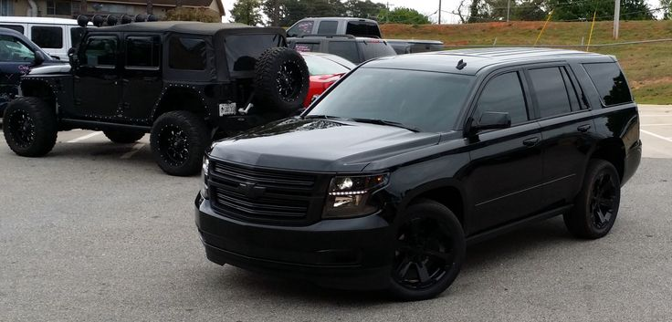2015 tahoe murdered out all chevy gm no fords pinterest awesome and murdered out. Black Bedroom Furniture Sets. Home Design Ideas