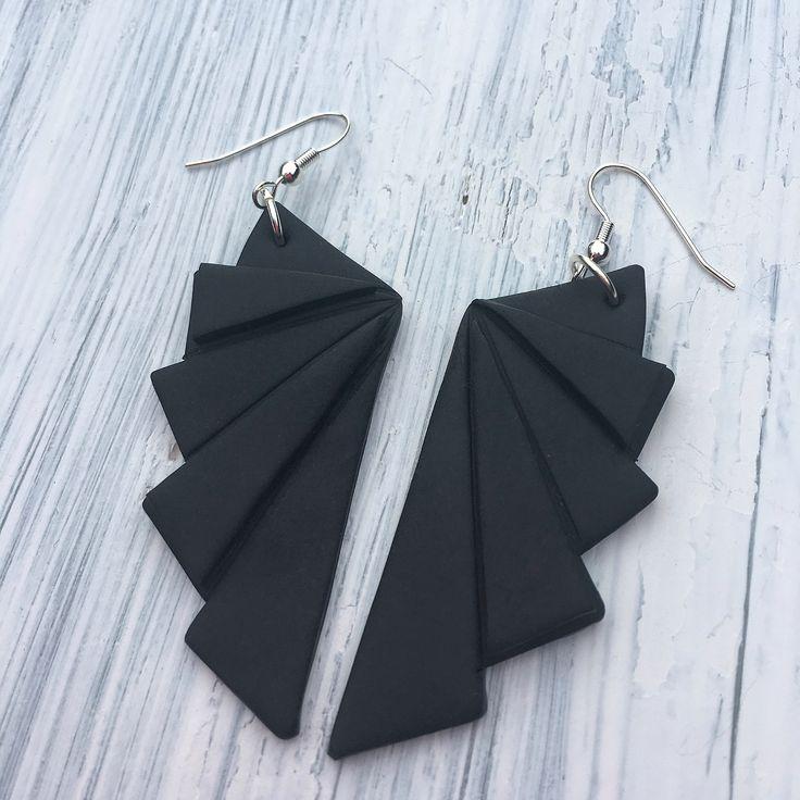 Handmade origami earrings Suomessa käsityönä valmistetut korvakorut  made by CherryAnn  @madebycherryann www.facebook.com/madebycherryann