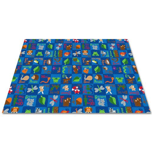 Found it at Wayfair - Animals In The Forest Blue Area Rug