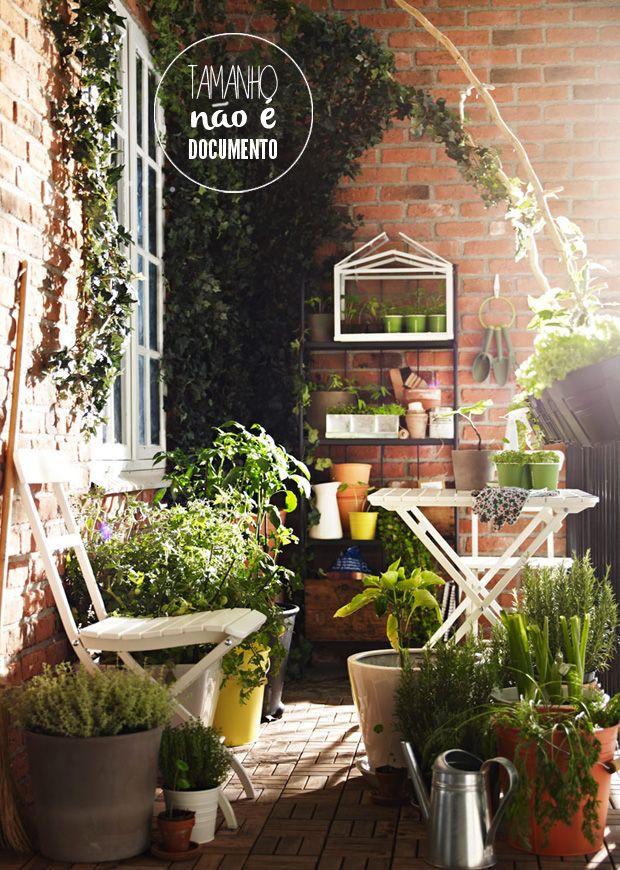 small balcony with lots of plants #decor #garden #balcony