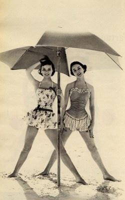 I love the vintage swim suit styles.