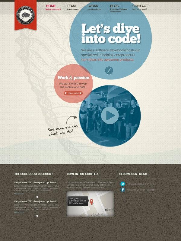 CodeQuest by Mariusz Ciesla, via Behance
