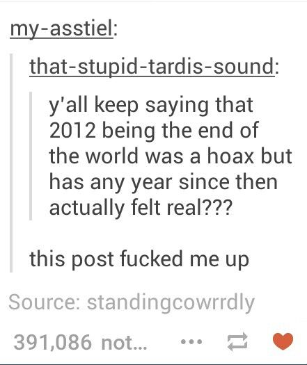 2012 was the end of the world