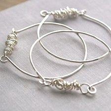 Tangled Sterling Silver Bangle Bracelet