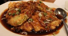 Pork Egg Foo Young with Brown Gravy