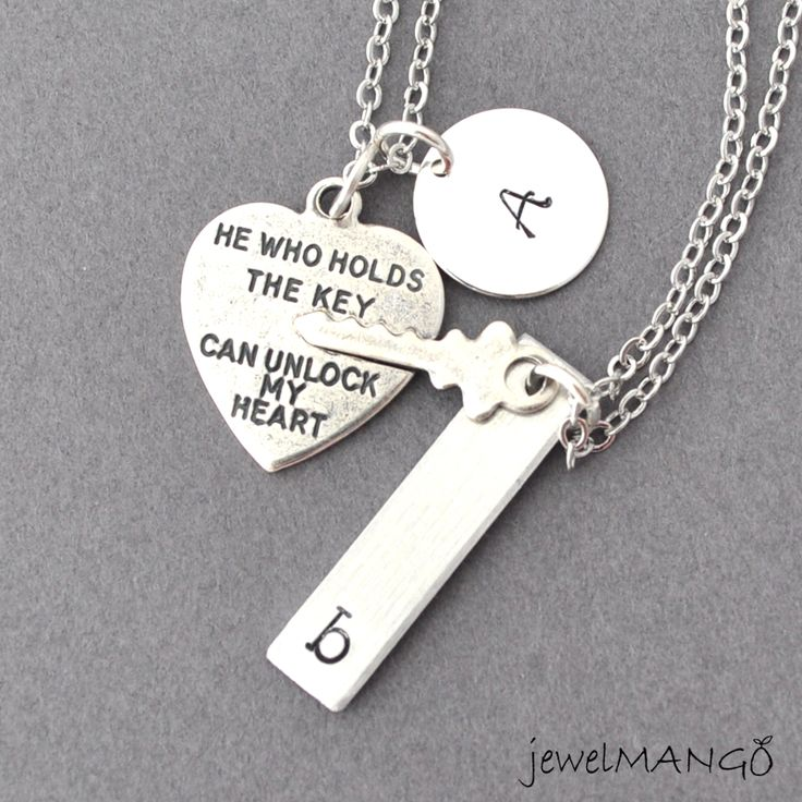 Key To My Heart Couple Necklace M