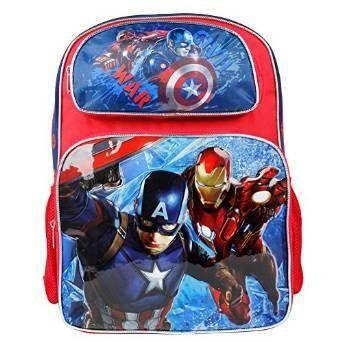 Marvel Captain America Civil War Backpack 16' Large School Bag for Boys. #Marvel #Captain #America #Civil #Backpack #Large #School #Boys