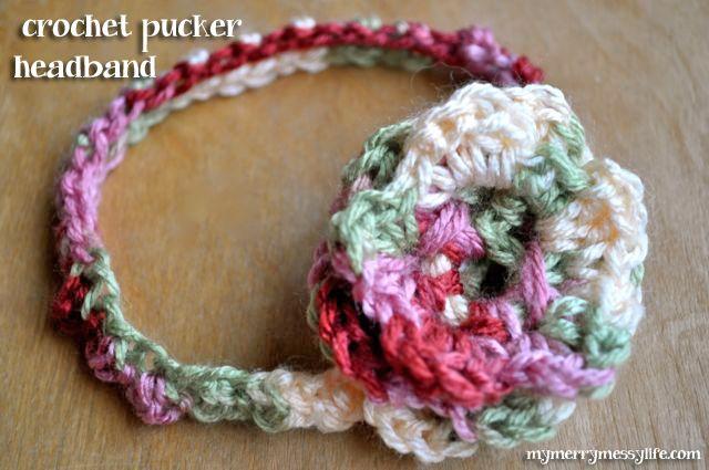 Diademas A Ganchillo. Awesome Corona Cinta Bebe Crochet Rosa Claro ...