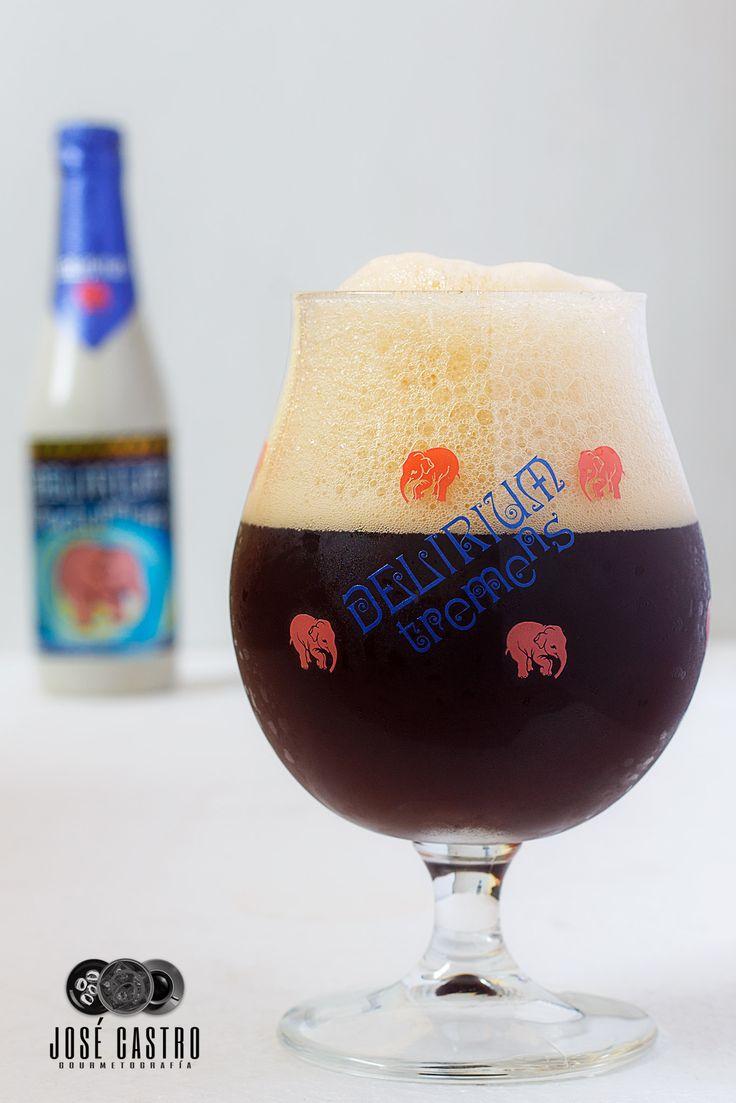 Delirium Nocturnum, a Belgian strong dark ale by Brouwerij Huyghe.