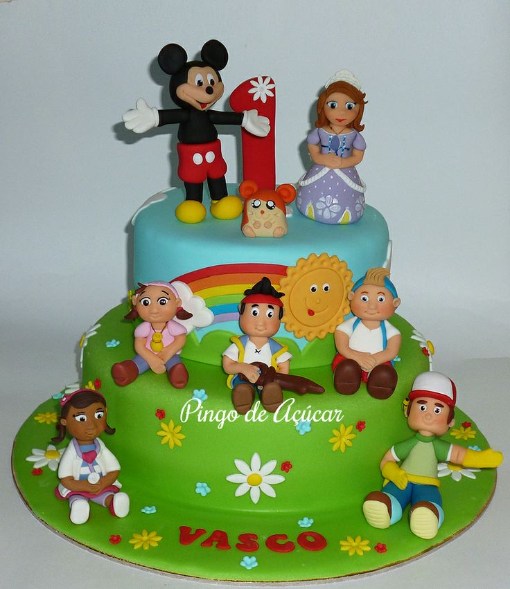 "- Disney Junior cake with Vasco's ""friends"""