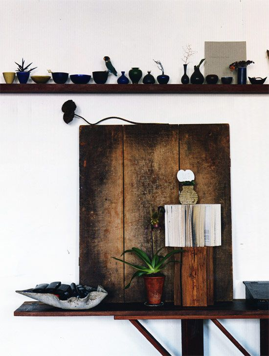 pots: Decor, Interior Design, Idea, Inspiration, Wood, Interiors, Display, Anita Calero, Space