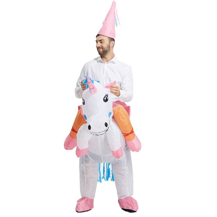 ==> [Free Shipping] Buy Best Christmas Gift Adults Halloween costume for kids Inflatable Unicorn Dinosaur Costume Inflatable T rex Party Princess Dress Online with LOWEST Price | 32677804115