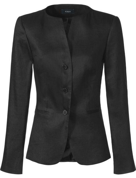 Purdey blazer linnen menging zwart