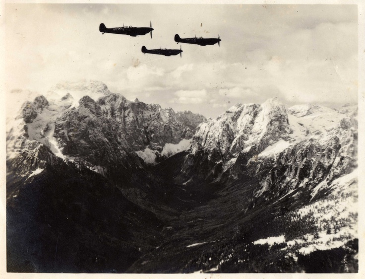 South African Air Force Spitfires over Northern Italy