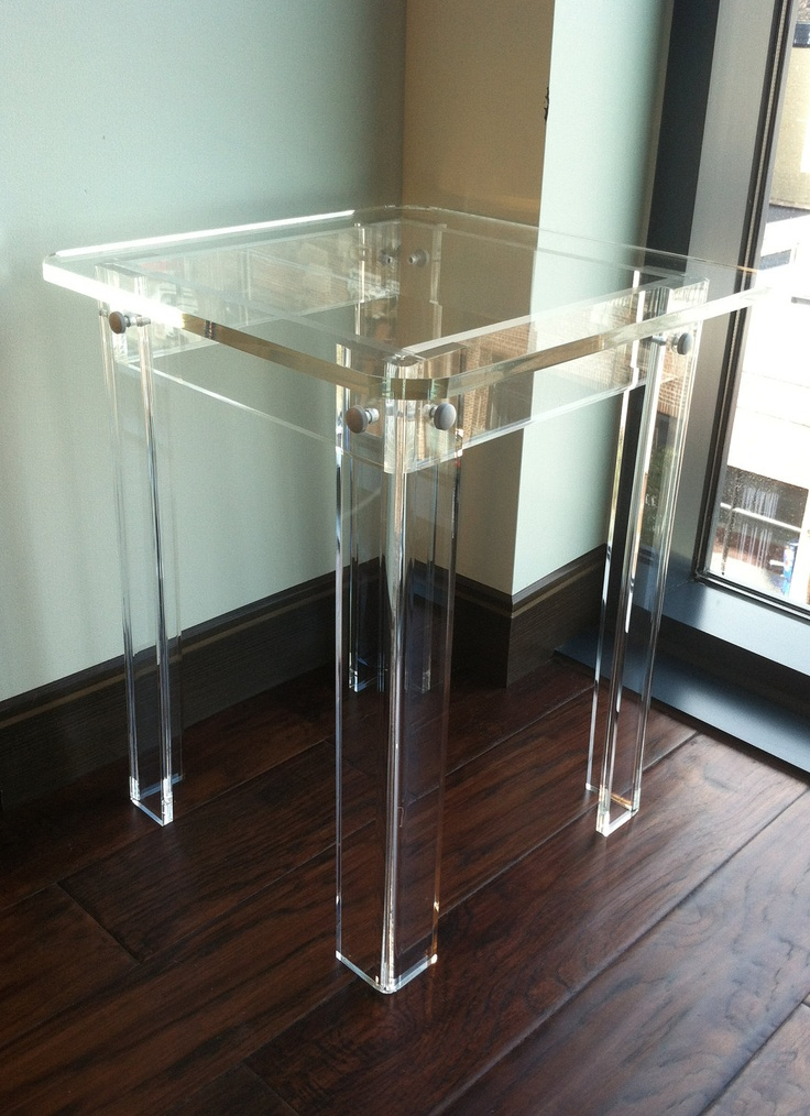 Clear Acrylic Side Table Home Furniture Via Etsy Furniture I Love Pinterest