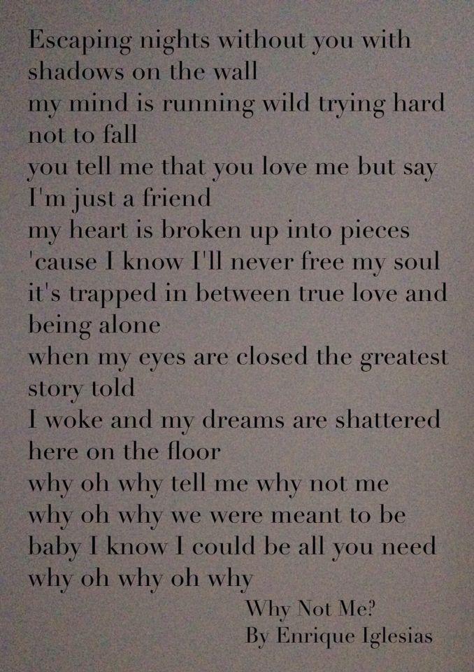 Enrique Iglesias - Somebody's Me Lyrics | MetroLyrics