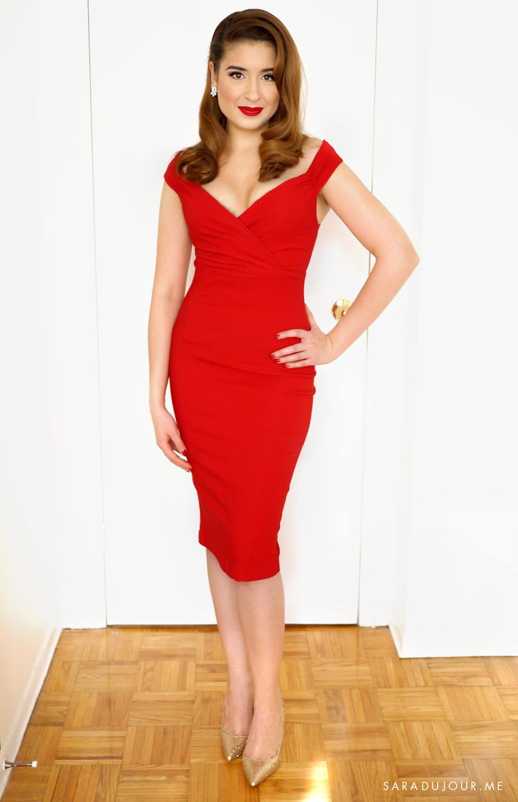 Retro Glamour Little Red Dress Outfit • Sara du Jour