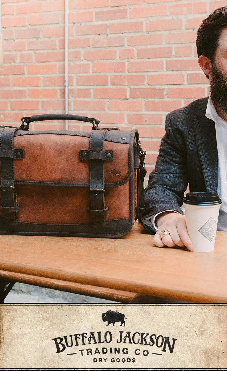 Whether rugged is his style or his mindset, this men's two tone brown leather briefcase bag will suit a man well for work or travel. Handcrafted to handle a lifetime of business, luxury, adventure, and more, this is a rugged briefcase for a rugged gentleman.