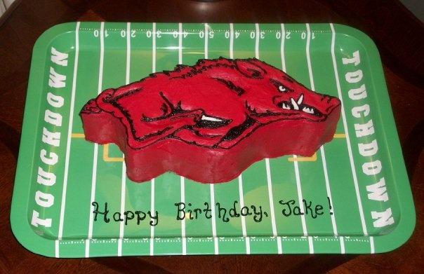 Cookie Cake Ideas For Boyfriend : 25+ best ideas about Razorback cake on Pinterest ...
