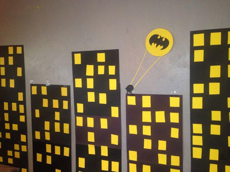 Gotham City Batman party photo booth backdrop