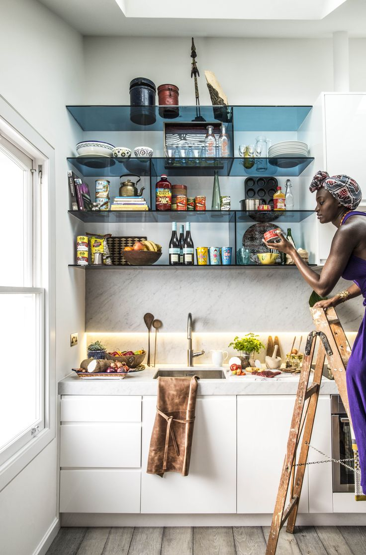 Creative storage design by Safia, #architect on Design for Me. #kitchen marble shelves units | Get matched with the right design professional for your home project on www.designforme.com