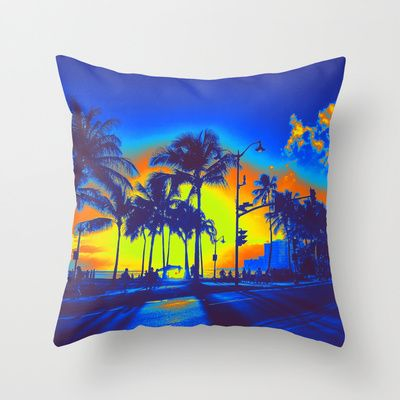 Blue Hawaii  #hawaii #oahu #waikiki #travel #sunset #tropical #vacation #summer #palmtree #present #gift #bday #birthday #cool #pillow #pillows #throwpillows #throwpillow