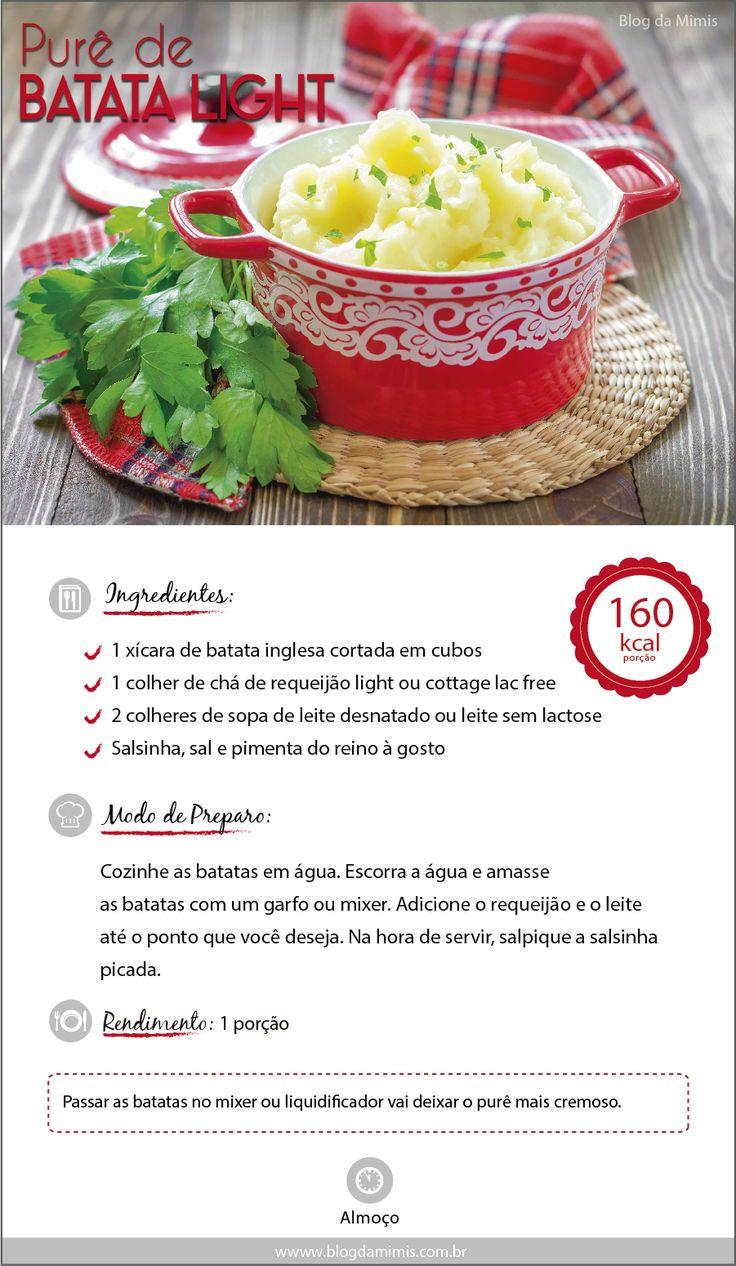 receita delicia http://blogdamimis.com.br/2014/07/24/pure-de-batata-light/