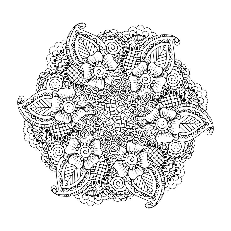 these printable abstract coloring pages relieve stress and help you meditate - Coloring Pages Designs Shapes