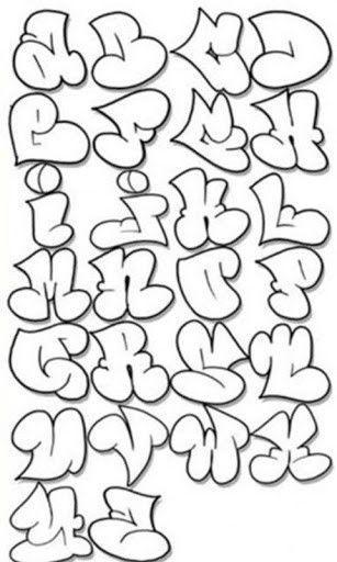 Cool Print Letters Alphabet