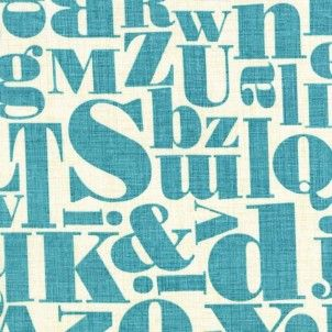 Just My Type Letterpress in Teal
