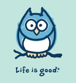 Lexi will love this one!!! Life is Good owl. Go Chi O!!! we need a tshirt of…