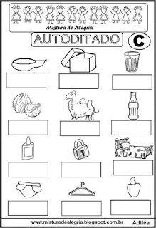 Autoditado para alfabetização com a letra C