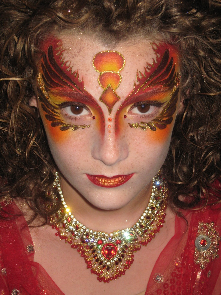 """My Fire Faerie(painted by """"Z"""" of """"Z"""" Face & Body Art)"""