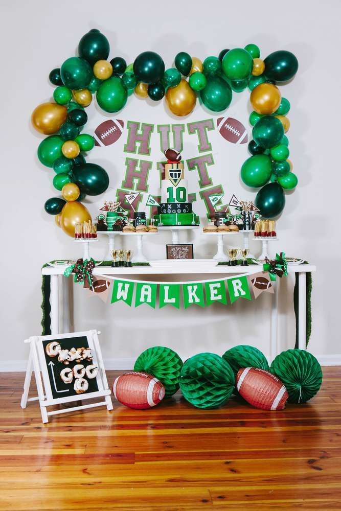 Football Theme Birthday Party Ideas | Photo 1 of 15