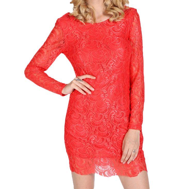 Мода платье женщины кружева мини платье спинки сексуальные шифоновые лоскутное о длинным рукавом обтяжку бинты платья ну вечеринкукупить в магазине Five Star Outlet наAliExpress