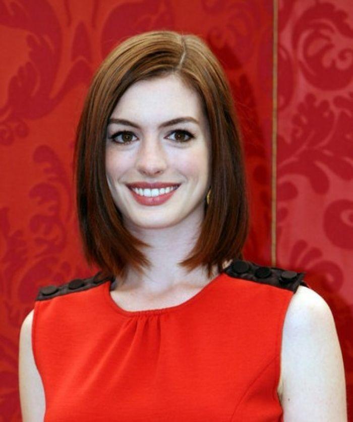 Anne Hathaway Lob: 1000+ Ideas About Blunt Bob Cuts On Pinterest