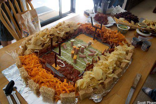 Rice Crispy Framed Stadium...superbowl superbly! Or a birthday party