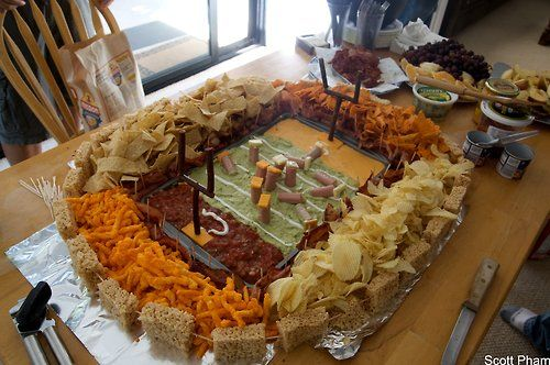 Snackadium . . . Football get together snacks: Football Seasons, Ideas, Recipe, Superbowl, Football Stadiums, Football Parties Food, Snacks, Super Bowls Food, Chee Dips