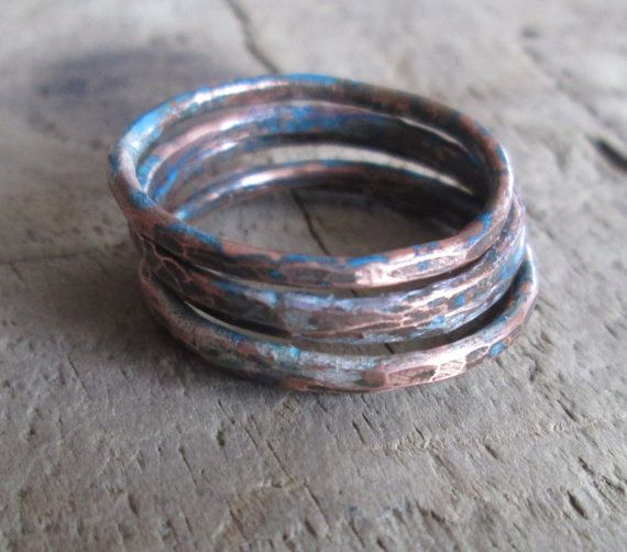 Hey, I found this really awesome Etsy listing at https://www.etsy.com/listing/122259348/unisex-hammered-copper-stack-ring-with