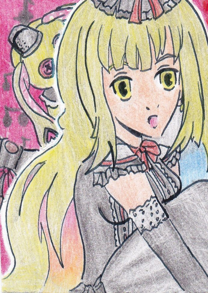 A drawing of one of the newest #vocaloid #mayu