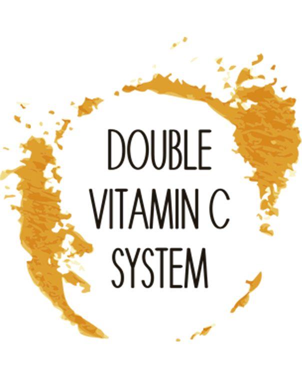 Double Vitamin C System  La línea DOUBLE VITAMIN C SYSTEM contiene todo el poder de la Vitamina C llevado a su máxima actividad y eficacia.  Sus fórmulas combinan Vitamina C estabilizada en forma hidrosoluble y en forma liposoluble por lo que conseguimos tanto una mayor concentración como una mejor biodisponibilidad de Vitamina C que favorecen su acción en su máxima efectividad.  La actividad se completa con células frescas de Kiwi en forma de microcápsulas naturales llenas de vida.