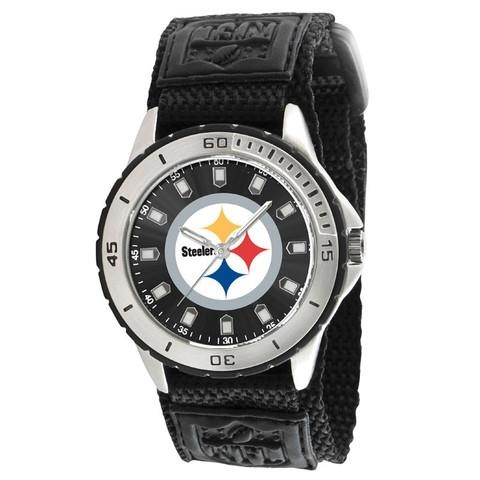 Steelers time! Here's where you can find this cool watch: http://www.javisports.com/collections/pitsburgh-steelers/products/pittsburgh-steelers-watch-veteran-series