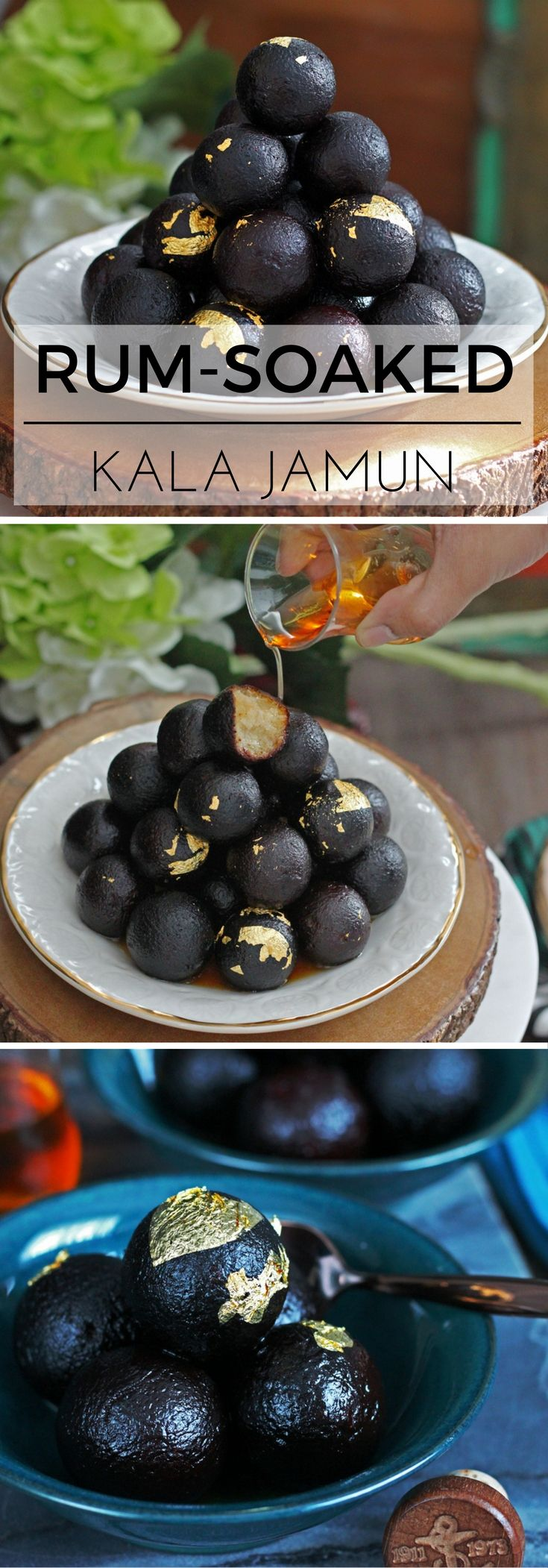 Rum-Soaked Kala Jamun (Cardamom and Rum Doughnuts) | K.O Rasoi