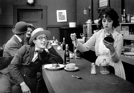 "Harold Lloyd, Bebe Daniels in ""The flirt"",  Pathe-Rolin, 1917,"