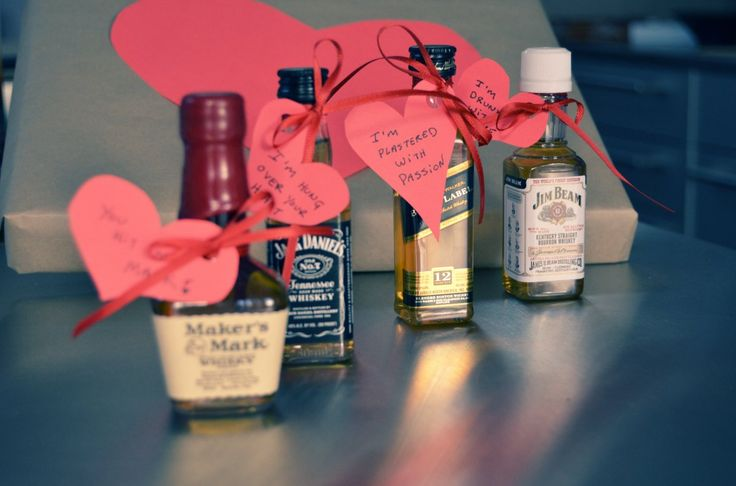 Diy Liquor And Hearts Valentine For Guys Gift Ideas For