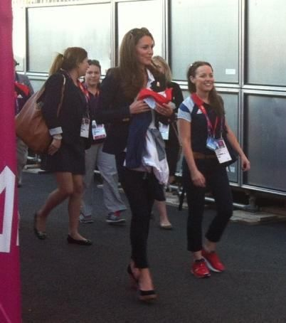 Duchess Kate supported Team GB's hockey team tonight at the Riverbank arena as they compete for a place in the final against Argentina. The Duchess was accompanied by her private secretary Rebecca Deacon. 8/8/12